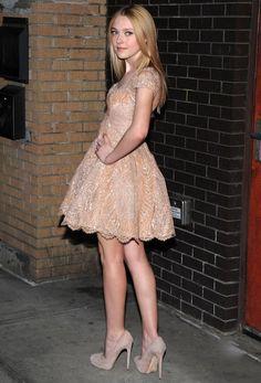 Dakota Fanning in Elie Saab at the 2010 'Runaways' premiere in New York City