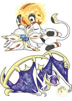Sun and Moon by inkscribble on DeviantArt - Pokemon Pokemon Comics, Memes Do Pokemon, Solgaleo Pokemon, Pokemon Eeveelutions, Pokemon Funny, Pokemon Stuff, Pokemon Fusion Art, Pokemon Fan Art, Deviantart Pokemon