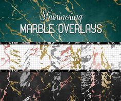 Shimmering Marble Overlays by Origins Digital Curio on @creativemarket