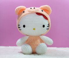 Amigurumi Hello Kitty in Chinese Zodiac Cosplay : Pig PDF pattern only 5.50