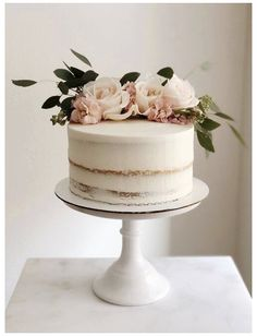 Works | Pegah Ezzi - Couture Treats #engagement #cake #simple #one #tier Works | Pegah Ezzi - Couture Treats Simple Elegant Wedding, Elegant Wedding Cakes, Wedding Cake Designs, Simple Weddings, Blush Weddings, White Weddings, Rustic Wedding, Wedding Cake Simple, Elegant Cakes