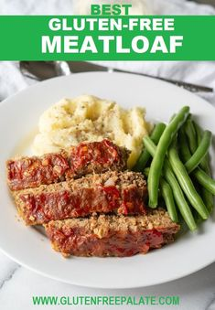 No-fail Gluten-Free Meatloaf that's easy to make, packed with flavor, and comforting any night of the week. This gluten-free meatloaf recipe is also dairy-free and nut-free. More from my siteGround Turkey Paleo Meatloaf Recipe Gluten Free Meatloaf, Low Carb Meatloaf, Easy Meatloaf, Meatloaf Recipes, No Carb Meatloaf Recipe, Hamburger Recipes, Gluten Free Recipes For Dinner, Gf Recipes, Dairy Free Recipes