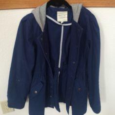 Jacket Heritage 1981 jacket blue with grey hoodie Forever 21 Jackets & Coats Utility Jackets