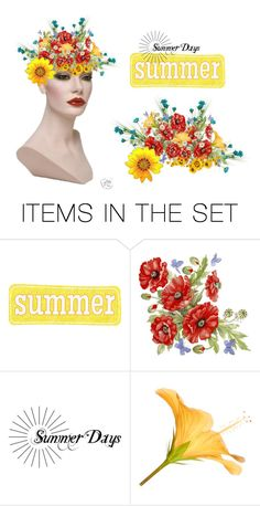 """Summer Days"" by sjlew ❤ liked on Polyvore featuring art"