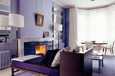 Violet Color | Suite Ideas | Chaise Lounge | David Collins | Iconic Hotels | Commercial Interior | Hospitality Design