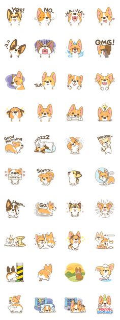 Corgi a collection - LINE Creators' Stickers