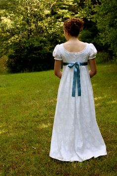 Ivory Lace Regency Dress Formal Ball Gown and by garlandofgrace