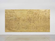 Rudolf Stingel Untitled, 2012. Galvanized cast copper 94 1/2 x 189 x 1 1/2 inches (240 x 480.1 x 3.8 cm) Photo by Alessandro Zambianchi