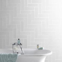Faïence mur blanc, Basic briquette l.10 x L.30 cm