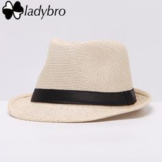 Ladybro Women Hat For Ladies Summer Beach Cap Sun Hat Female Panama Straw Gangster Trilby Fashion Sun Visor Cap Item Type: Sun HatsDepartment Name: AdultPattern Type: SolidGender: UnisexMaterial: StrawBrand Name: ladybroStyle: CasualModel Number: Straw Visor, Visor Cap, Straw Fedora, Fedora Hat, Panama, Sun Hats For Women, Women Hats, Gangster, Spring Hats