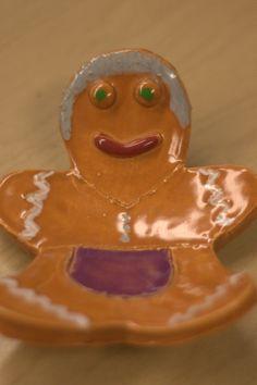 Kindergarten Kids: Ceramic Gingerbread Man Spoon Rest- great parent gift!