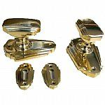 Art Deco Style Brass Door Knob Set from Snobs Knobs and Posh Knockers