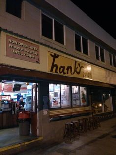 Our favorite hot dog place.