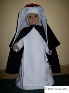 In honor of St. Rose of Lima's feast day we are giving away one St. Rose habit for dolls from Bella's Boutique.
