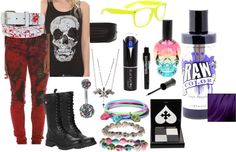 """Hot Topic Outfit"" by bethalu ❤ liked on Polyvore"
