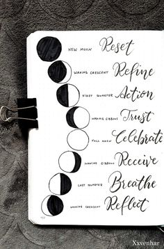 Moon lunar phases and the meanings . October bullet journal moon theme 2019 fall autumn halloween lunar phases moon child quote bujo spread quotes for work Bullet Journal Ideas Pages, Bullet Journal Inspiration, Journal Pages, Bullet Journal October Theme, Bullet Journal Halloween, Bullet Journal Decoration, Journals, Bullet Journal Quotes, Bullet Journal 2020
