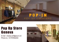 Are you searching a pop-up store in Geneva? Visit pop-in.ch and explore the best short-term pop-up stores, available for rent, in Geneva.