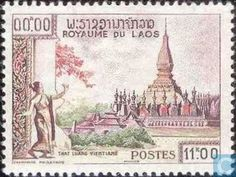 Postage Stamps - Laos - Temples