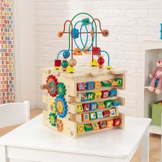 KidKraft Deluxe Activity Cube. Toys for Girls, Toys 1 year old, this is toys Alphabet Blocks, Letter Blocks, Toys For 1 Year Old, Popular Kids Toys, Colorful Artwork, Learn To Count, Block Lettering, Letters And Numbers, Toys For Girls