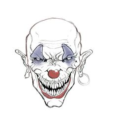 The latest scary tutorial from the Drawing Factory to realise evil clown drawings. This is very scary and not for the faint of heart, just after the click. Scary Clown Drawing, Scary Clown Makeup, Halloween Makeup Clown, Scary Drawings, Halloween Carnival, Halloween Crafts, Gruseliger Clown, Creepy Clown, Scary Eyes