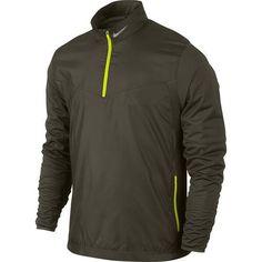 Nike Golf Shield 1/2-Zip Top - Cargo Khaki/Volt
