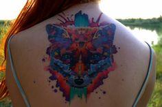 Wow, what an amazing fox tat