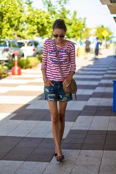 Image Via: Little Blonde Book in our Striped Weekend Tee