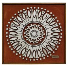 Brent Bennett Ceramic Wall Hanging | From a unique collection of antique and modern wall-mounted sculptures at https://www.1stdibs.com/furniture/wall-decorations/wall-mounted-sculptures/