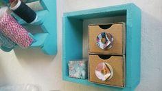 Cajones para organizar scraproom hechos de cajas recicladas / Drawers for scraproom organization made from recycled boxes