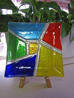 Sunburst fusionados con placa por glitzinglass en Etsy