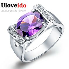 Find More Rings Information about Trendy Silver Square Shape Engagement Rings for Women Amethyst Wedding Ring with Blue Stone 2015 Ulove J121,High Quality ring bulk,China ring base Suppliers, Cheap ring illuminator from Ulovestore Jewelry on Aliexpress.com
