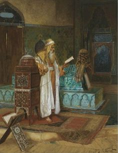 The Tomb of Sultan Mehmet I. Exhibited : Paris, Salon n° 670 ( as Tombeau du sultan Mehmed). Art by Rudolf Art And Illustration, Illustrations, Art Apocalypse, Arabian Art, Islamic Paintings, Classical Art, Magazine Art, Islamic Art, American Artists