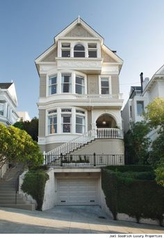 """jager:  Party of Five House """"If the front of this house looks familiar you might be flashing back to the 1990s television show """"Party of Five."""" Charlie, Bailey, Julia and the rest of the Salinger clan lived in this 19th Century mansion in San Francisco. This house on a hill has stunning Golden Gate and Bay views from multiple levels. There are seven bedrooms total. The main level has a reception foyer with 12 foot box-beamed ceilings, stained glass windows and a grand main staircase leading…"""