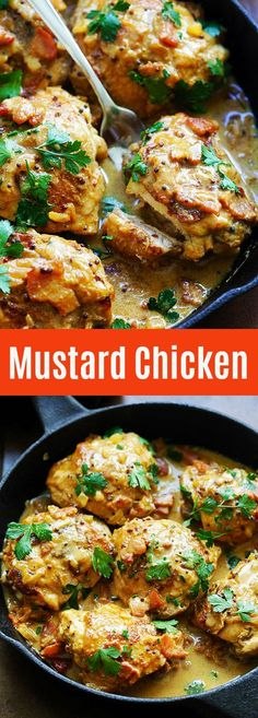 Mustard Chicken - the best mustard chicken recipe by David Lebovitz. Rich and crazy delicious mustard sauce with bacon and chicken thighs. Tostadas, Spicy Fried Chicken, Cooking Challenge, Mustard Chicken, Sweet Potato Soup, Chicken Recipes, Beef Recipes, Bacon, Food And Drink