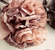 coffee filter flowers - adorable & super easy - see the link of how to at bottom of link