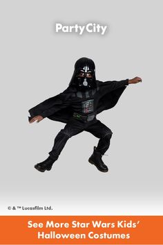 Become your favorite characters with Party City's collection of kids Halloween costumes. Star Wars Kids, Halloween Costumes For Kids, Darth Vader, Stars, Fun, Fictional Characters, City, Collection, Halloween Costumes For Children