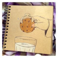 Baymax with a Cookie by DeeeSkye on @DeviantArt