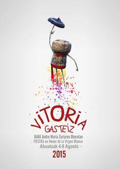 Resultado de imagen de cartele fiestas vitoria 2017