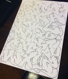 Graffiti Lettering Alphabet, Chicano Lettering, Tattoo Lettering Fonts, Graffiti Font, Graffiti Designs, Graffiti Drawing, Graffiti Styles, Calligraphy Alphabet, Islamic Calligraphy