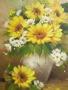 pinturas em tecidos girassol - Pesquisa Google