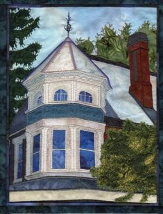 Journal Quilt, Victorian Turret, by Susan Brittingham
