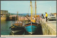The Harbour, Penzance, Cornwall, 1971 - Harvey Barton Postcard