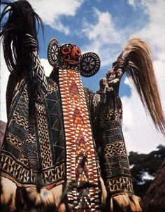 Africa |  Sites and Sounds.  Ceremonial dress from the Dogon people from Mali, West Africa