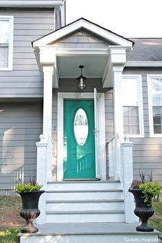 Add a fun pop of color to your front door!