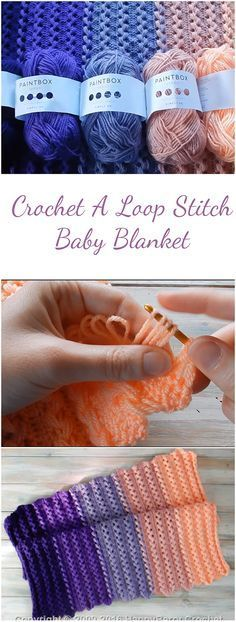 How to crochet a loop stitch baby blanket? This free tutorial (+Video) covers it all.