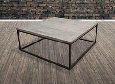 Tøft og rustikt Old Amsterdam sofabord. Varen har understell i jern og gråtonet…