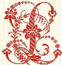 Filomena Crochet and Handcraft Other: - Monograms and alphabet Cross Stitch Letters, Cross Stitch Borders, Cross Stitch Charts, Cross Stitching, Blackwork Embroidery, Cross Stitch Embroidery, Embroidery Patterns, Stitch Patterns, Embroidery Monogram