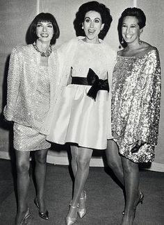 Anna Wintour, Carolyne Roehm and Donna Karan.