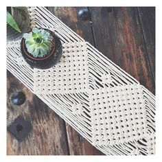 "60 Likes, 2 Comments - Krystle (& Zahra ) (@homevibes_macrame) on Instagram: ""Ain't nothin like a good macrame table runner to make your timber table all rustic and dreamy! This…"""