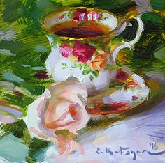 Country Rose Teacup